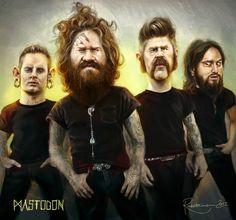 Mastodon - Bandportrait by Raketenmann