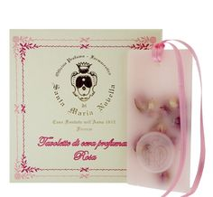 100% organic beeswax from Santa Maria Novella's bee farm is used in these wonderfully rose scented tablets which can be used for your closets and drawers or simply left out in an open space to scent the air. -- Rose Wax Tablets