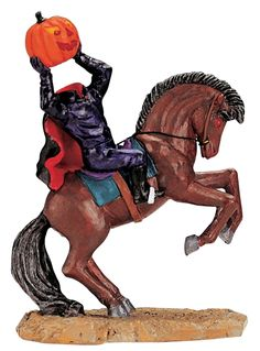 Lemax Spooky Town Headless Rider # Add some ghoulish delight to your Halloween scene with this figure Halloween Scene, Halloween Village, Halloween Night, Halloween Art, Spirit Halloween, Halloween Themes, Halloween Decorations, Happy Halloween, Halloween Displays