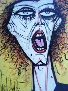 Bernard Buffet - The Cry Pale Fire, Collage, Georges Braque, True Art, French Artists, Contemporary Artists, Portraits, Les Oeuvres, Buffet