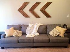 Large Chevron Wood Arrows Wooden Aztec Arrows by HandmadeHartfelt