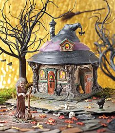 Department 56 Snow Village Halloween Hildas Witch Haunt and Accessory #Dillards