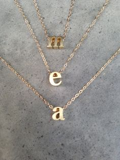 Gold Vermeil initial necklace lower case initial by BijouLimon, $32.00