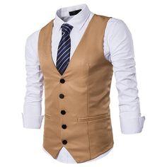 Men Suit Vest Classic V Collar Dress Slim Fit Wedding Waistcoat Mens Formal Slim Dress Sleeveless Vest Men Black Gilet Homme Waistcoat Men Casual, Men's Waistcoat, Mens Suit Vest, Mens Suits, Vest For Men Wedding, Gilet Costume, Wedding Waistcoats, Men's Swimsuits, Workout Vest