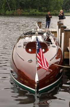 (LOCKPAT II) 1931 (40') Hackercraft - Powered by a 2,025 cid – 650hp, Packard V-12, designed for a top speed of 60 mph. This historic boat was originally custom built for Dick Locke, some say it is possibly one of the most significant wooden runabouts ever built. (1)