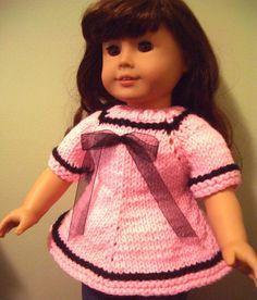 Knitting PATTERN beginner level for AG American Girl 18 inch DOLL (06)