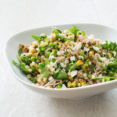Israeli Couscous with Lemon, Mint, Peas, Feta, and Pickled Shallots Recipe - America's Test Kitchen