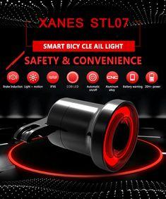 XANES STL07 Smart Bike Tail Light Brake Sensing USB Rechargeable IPX6 Waterproof Rear Light Sale - Banggood.com Tail Light, Bodybuilding, Usb, Bike, Sports, Bicycle, Hs Sports, Bicycles, Sport