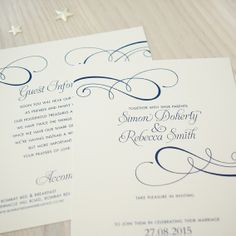Wedding invitation - Classical © Paper Wedding 2014 From the Off-the-Rack collection: http://www.paperwedding.co.nz/#!off-the-rack-designs/c1dlq