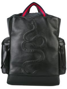 Gucci рюкзак с вышивкой змеи