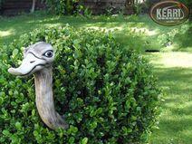 Heckengucker Gartendeko Rosenkugel