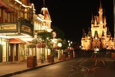 Main Street U.S.A and Cinderella's Castle at 3am