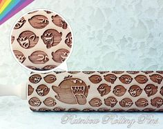 Super Mario Boo Pattern Engraved Rolling Pin
