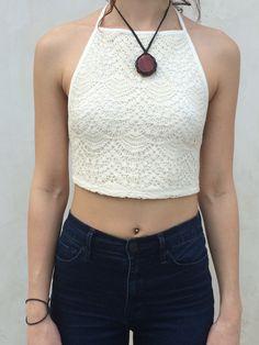 Cora Crochet Halter Top