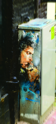 Art by C215 @Christian Wilsson Guemy street art tour in #amsterdam with @Nicole Novembrino Blommers