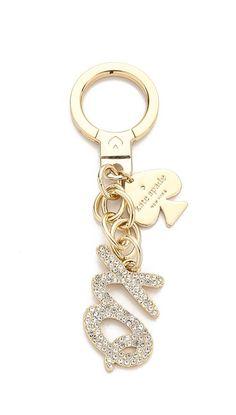 XO pave key chain