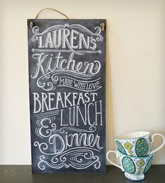 Custom Kitchen Chalkboard Sign