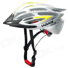 Laplace A5 Cool Outdoor Bike Bicycle Cycling Helmet - Silver   Yellow (56~62cm) Price: $33.30