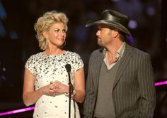 Faith Hill and Tim McGraw present on stage during the 2008 CMT Music Awards at the Curb Events Center at Belmont University on April 14 2008 in...