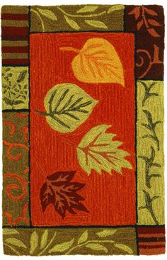 Homefires Rugs Homefires Jennifer Sosik Fall Leaf Mosaic Red Rug. Rugs USA Fall Sale up to 80% Off! Area rug, rug, carpet, design, style, home decor, interior design, pattern, trends, home, statement, fall, autumn, cozy, sale, discount, interiors, house, free shipping.