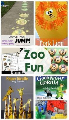 To kick off our Zoo Fun Themed Week, we've got a great round up for you! Printables, activities, games and more! Printables Zoo Passport Printable from Everyday Allie Rae Zoo Scavenger Hunt from 123 Homeschool Zoo Activities Preschool, Animal Activities For Kids, Animal Crafts For Kids, Art For Kids, Animal Games, Animal Snacks, Nursery Activities, Youth Activities, Party Activities