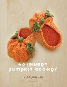 CROCHET PATTERN Halloween Pumpkins Baby Booties Newborn | Etsy Crochet Baby Shoes, Crochet Baby Booties, Crochet Slippers, Crochet Yarn, Hand Crochet, Free Crochet, Baby Booties Free Pattern, Crotchet, Crochet Baby Stuff