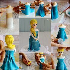TartaFantasía: Modelado de La Reina Elsa con Pasta de Goma