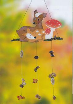 Albumarchívum Mobiles, Paper Decorations, Autumn, Fall, Classroom Decor, Christmas Ornaments, Pattern, Doors, Education