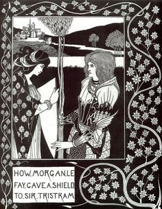 Aubrey Beardsley (1872-1898), How Morgan Le Fay Gave a Shield to Sir Tristram - 1893/94