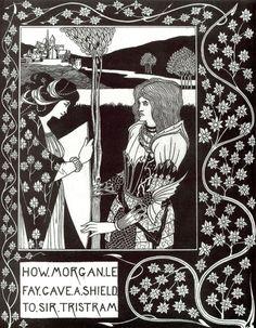 Aubrey Beardsley (1872-1898), How Morgan Le Fay Gave a Shield to Sir Tristram - 1893/94
