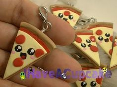 DIY Kawaii Pizza Charm Tutorial in Polymer Clay or Fimo