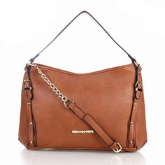2d36e787826b Luxury And Cheap Michael Kors Jet Set Saffiano Logo Large Brown Satchels  Online Hot Sale In Our Online Outlet!