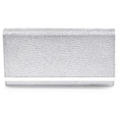 Glint 'Sparkle Bar' Clutch ($58) ❤ liked on Polyvore featuring bags, handbags, clutches, silver, sparkle handbags, chain purse, chain handbags and sparkly purses