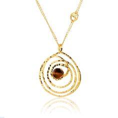 Κολιέ Αriadni από επιχρυσωμένο ασήμι 925 με tiger eye Gold Necklace, Jewelry, Bijoux, Jewlery, Jewels, Jewelery, Jewerly, Fine Jewelry, Jewel