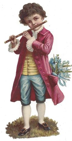 Victorian Die Cut Scrap Mozart as a Boy picclick.com