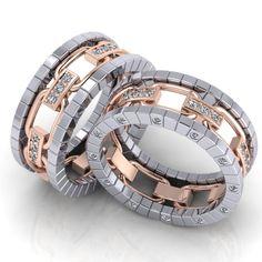 Данная модель украшена бриллиантами в торце кольца. Это один из самых сложных и изысканных видов закрепки. Такие кольца всегда будут предметом внимания и восхищения окружающих.  Авторский дизайн этих колец был тщательно продуман нашими специалистами и дизайнерами. Неповторимые линии, безупречная пластика в драгоценном металле и сияющие бриллианты. Все что нужно, чтобы именно Ваша свадьба стала действительно эксклюзивной.  Обручальные