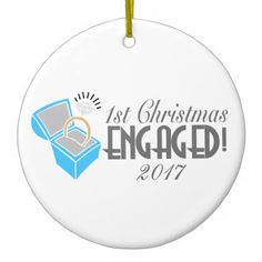 1st Christmas Engaged Ornament Dated 2017 - merry christmas diy xmas present gift idea family holidays