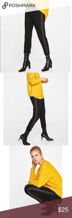 814c85c845fd8 New ZARA Knit Trousers Zara Knit Trousers Elastic Waist Band   Patch Back  Pockets   Contrasting Side Stripes  25 Ref  5536 024 800 Zara Pants Trousers