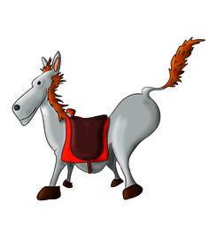 cavallo illustrazione per bambini