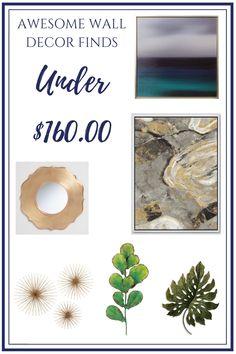 Check out my favorite wall decor finds - all under $160! #walldecor#affordabledecor#wallstyling#wallart#wallsculpture