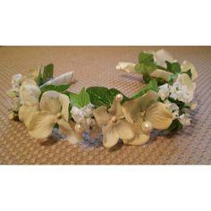 Ivory faerie costume flower girl fairy bridal wedding headband accessory via Etsy