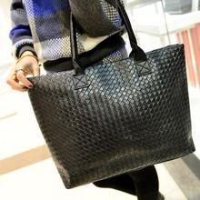 NIEUWE Vrouwen Handtas Classic Zwart Winkelen Handtas met Single-Schouder Grote Capaciteit Lederen Tassen * 35(China (Mainland))