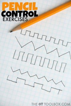 Use this free pencil control exercise to help kids work on handwriting legibility. Alphabet Writing, Pre Writing, Kids Writing, Start Writing, Writing Skills, Hand Writing, Preschool Alphabet, Alphabet Crafts, Preschool Kindergarten