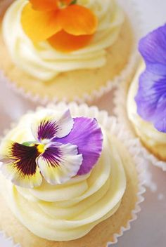 Cupcakes -- i used to have a pansy garden as a girl so these would be perfect