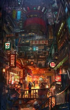 Travel Den – Find your perfect stay anywhere – Cyberpunk Gallery Cyberpunk City, Ville Cyberpunk, Cyberpunk Kunst, Cyberpunk Aesthetic, Futuristic City, Concept Art Landscape, Fantasy Art Landscapes, Fantasy Landscape, Fantasy Artwork
