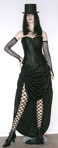 Black Bustle Skirt Steampunk Victorian Burlesque Goth Renaissance Belly Dance BS | eBay