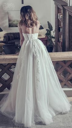 adam zohar 2019 bridal strapless sweetheart neckline heavily embellished bodice bustier romantic ball gown a  line wedding dress sweep train (1) bv -- Adam Zohar 2019 Wedding Dresses | Wedding Inspirasi #wedding #weddings #bridal #weddingdress #bride ~