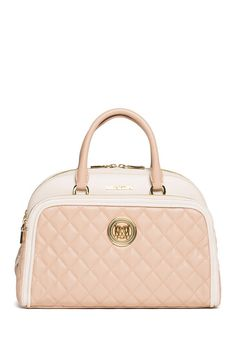 Image of LOVE Moschino Colorblock Quilted Satchel