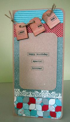 Male Birthday card - great colours:)