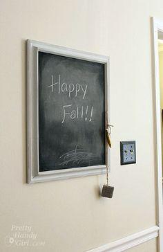 Frame Chalkboard (& house inspiration)